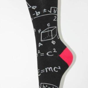 wiskunde sokken rood
