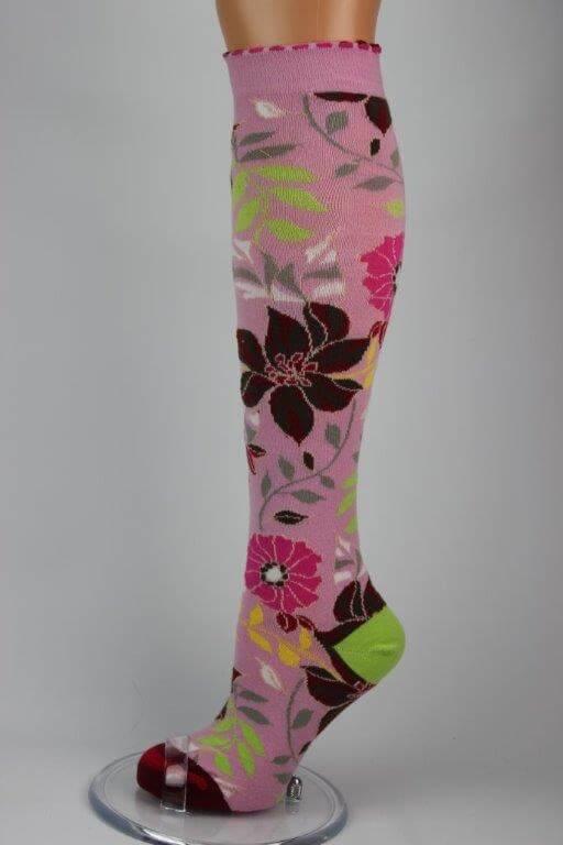 bloem roze kniekous