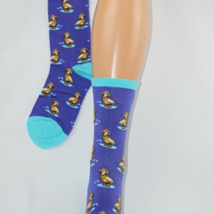 Eenden sokken blauw
