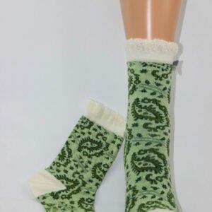 Avoca paisley enkelsok groen wit