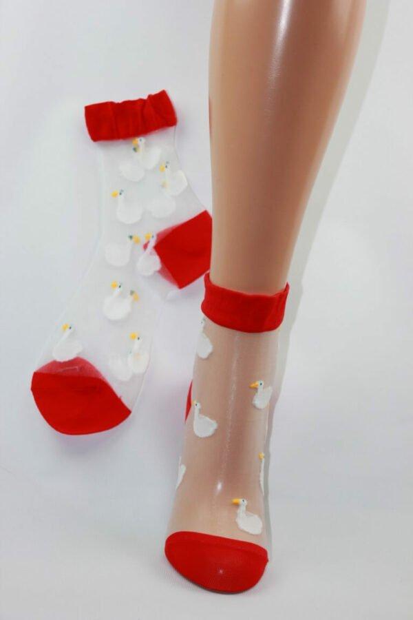 Eenden transparant sokken