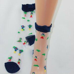 juichende mensen transparant sokken