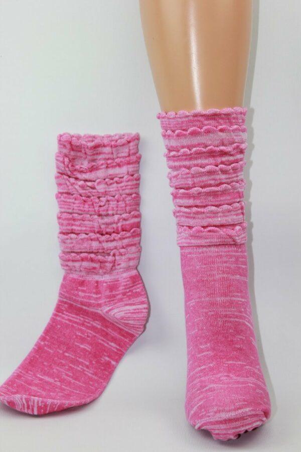 Roze ruffel sokken