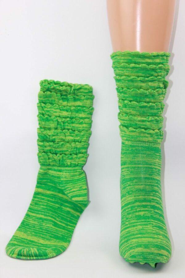 Groene ruffel sokken