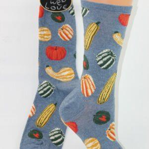 Pompoen sokken vrouw