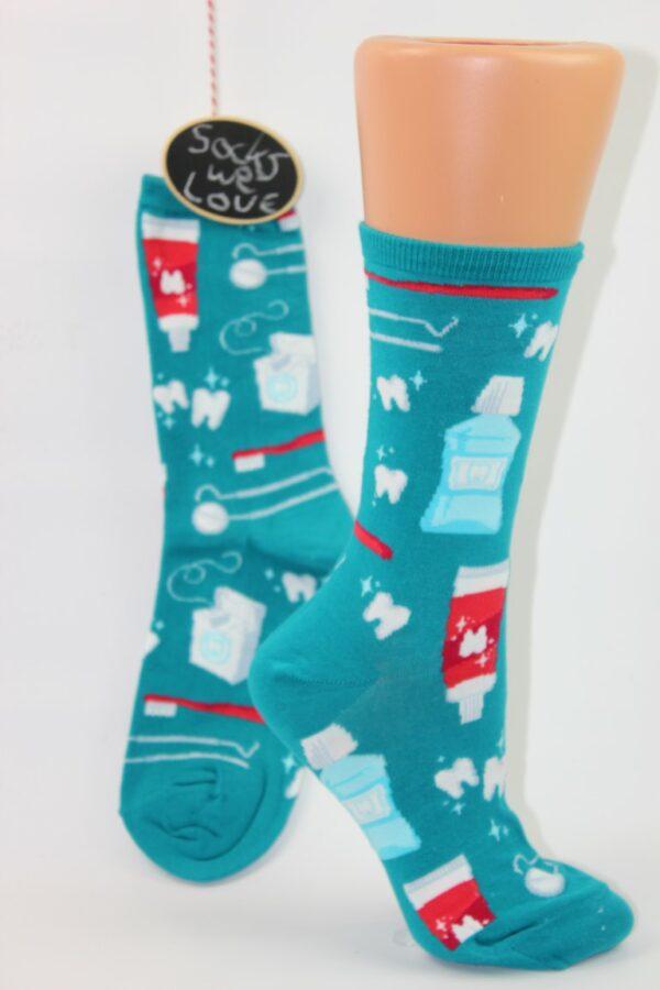 schone tanden sokken vrouw