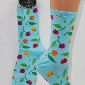 Fruitige kersen sokken