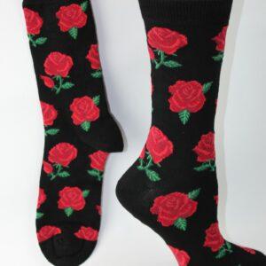 bamboo rode rozen sokken