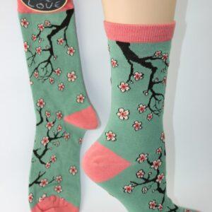 bamboo cherry bloesem sokken
