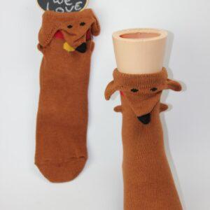 3d teckel kinder sokken