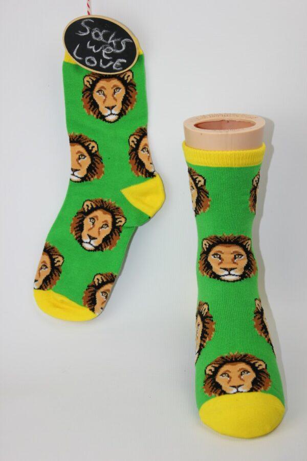 kinder leeuwen sokken