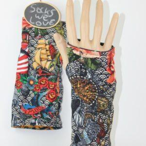 vingerloze handschoenen rose