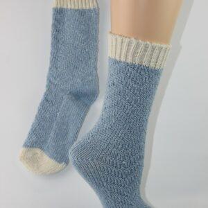 warme sok wit blauw