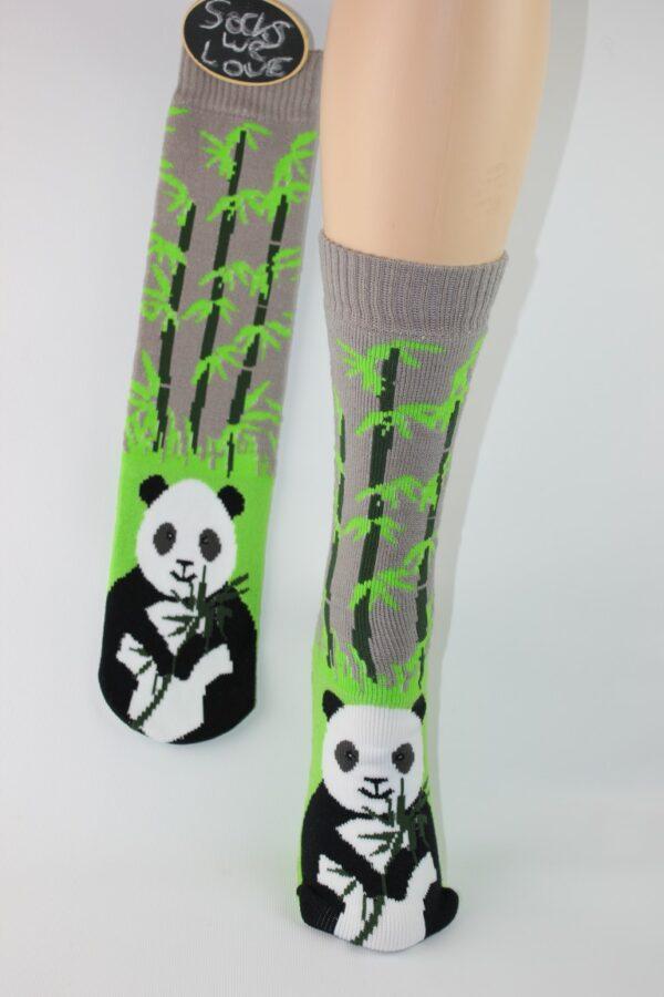 pantoffel sok panda antislip