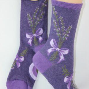 lavendel met strik sokken