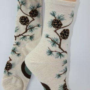 dennenappel sokken vrouw