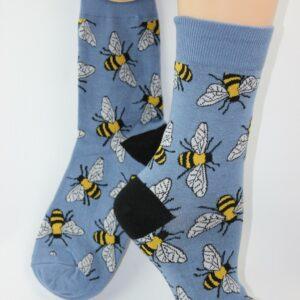 Bijen enkel sok vrouw