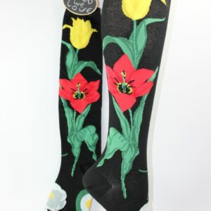 tulpen bloemen kniekous vrouw