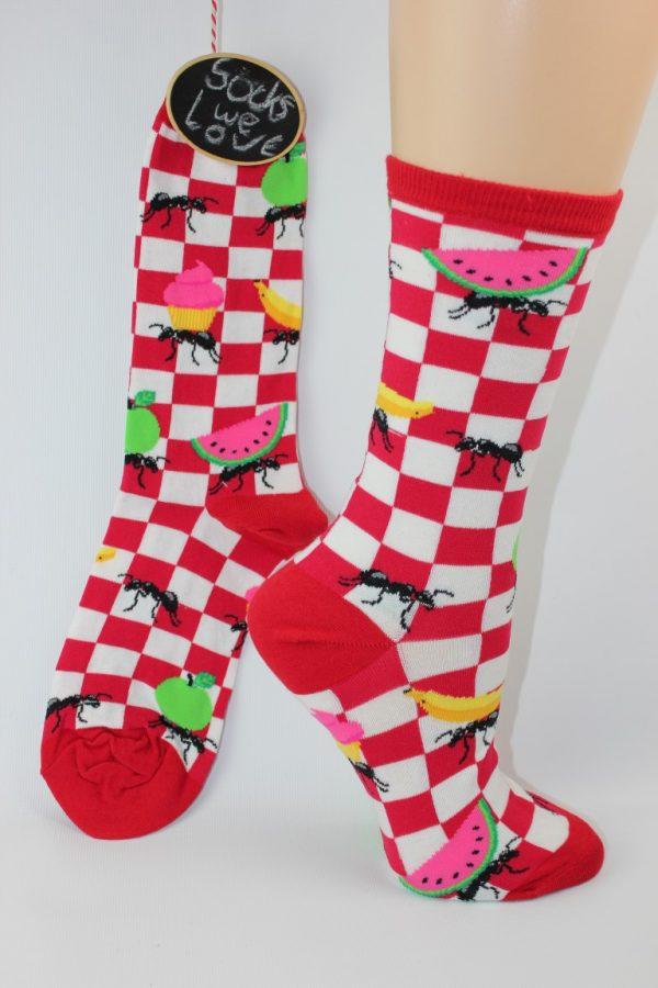 picknick en mieren sokken