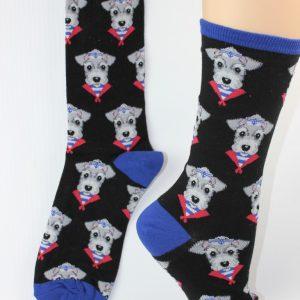 snazzy schnauzer honden sokken