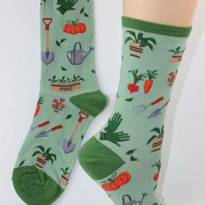 tuinieren sokken vrouw