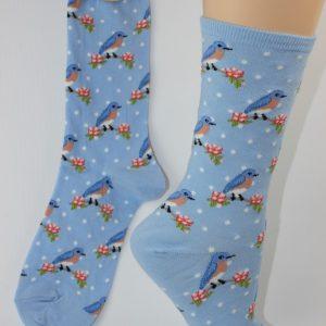 bluebird vogel sokken vrouw