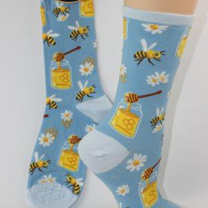 Bloemen en bijtjes sokken