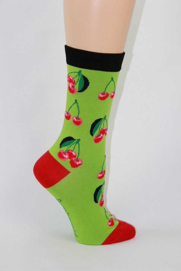 bamboe kersen enkel sokken