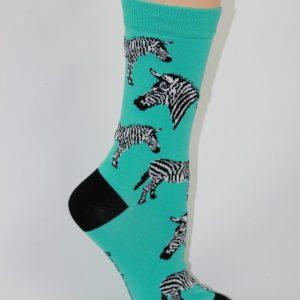 bamboe zebra enkel sokken