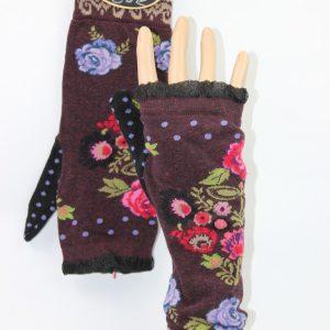 vingerloze handschoenen bloem stip