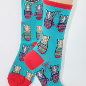 kat in wanten sokken