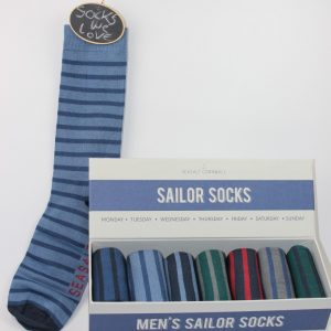 mens sailor socks strepen
