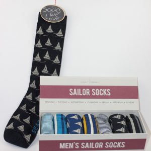 mens sailor socks boot