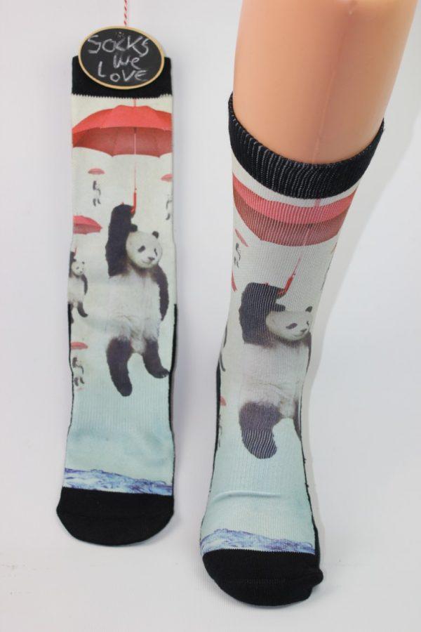 panda en paraplu