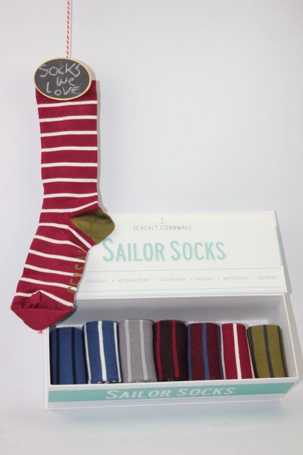 Vrouw sailor socks strepen