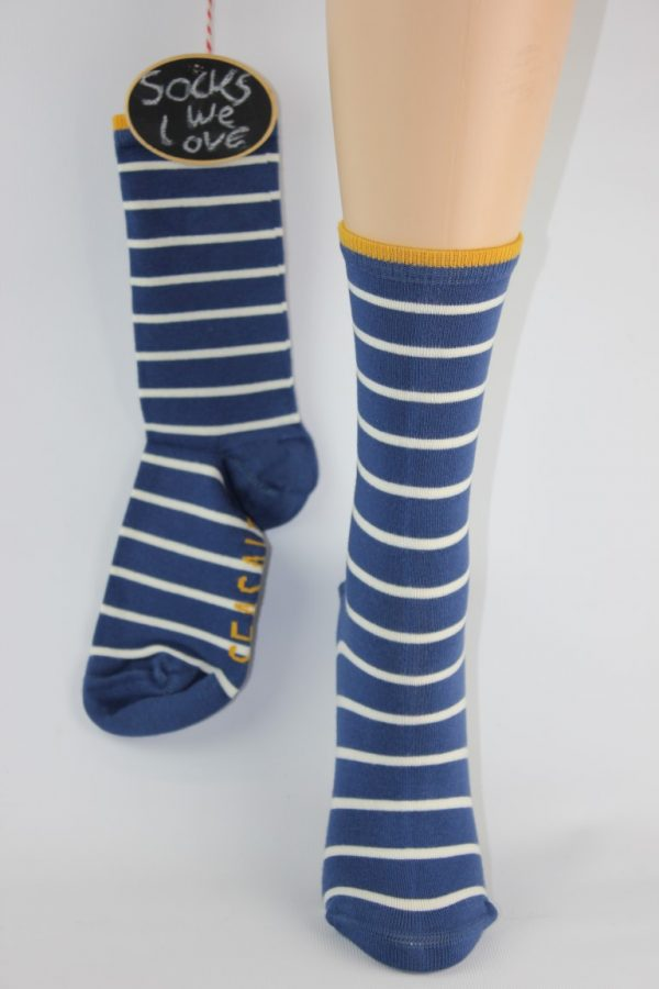 bamboo streep blauw