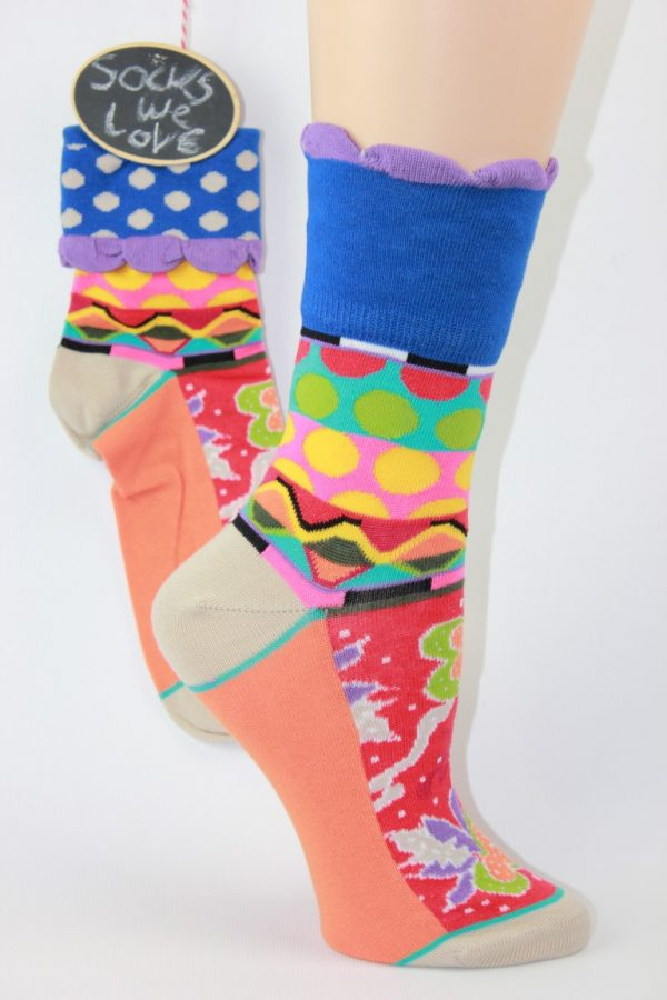 manchet sokken stip