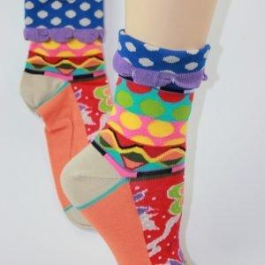 Manchet sokken stip blauw